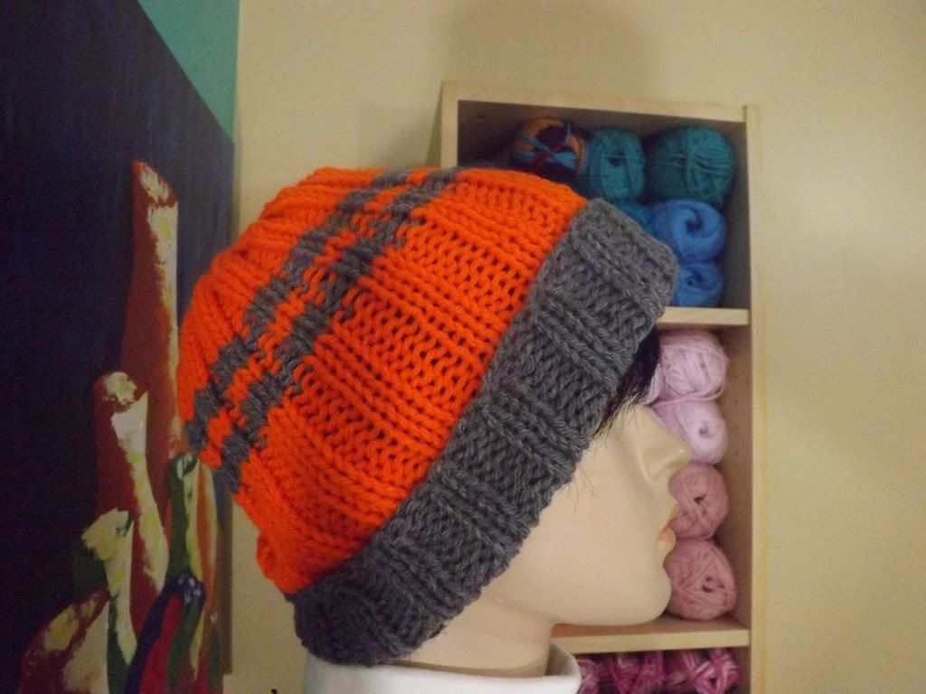 How To Knit  A Easy Men's Hat With Circular Needles.