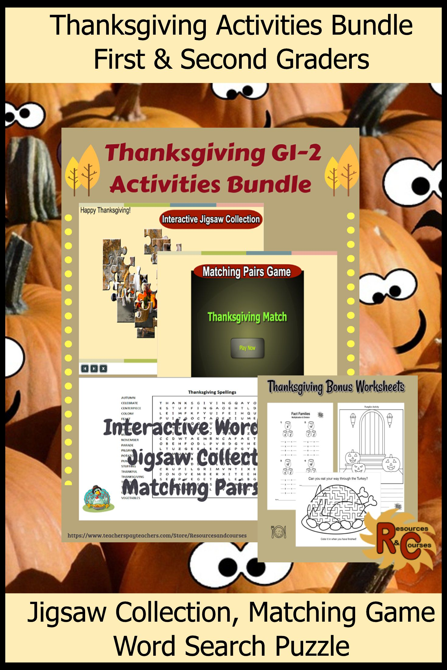 A Great Set Of Thanksgiving Activities For Your Primary