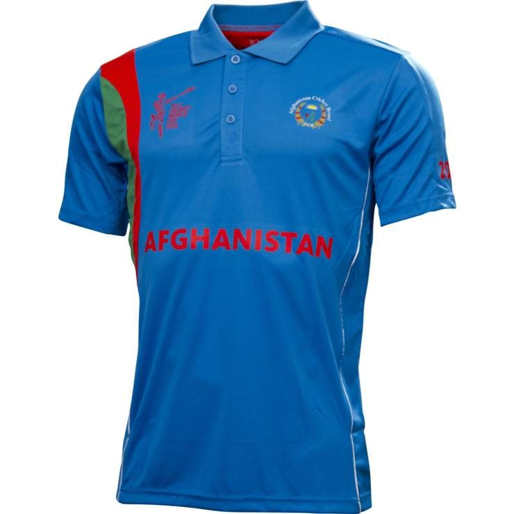 Afghanistan Cricket World Cup T Shirt 2015 Breathable Quick Dry Cotton Polyester Custom Designs Available Cricket T Shirt Cricket World Cup Shirts