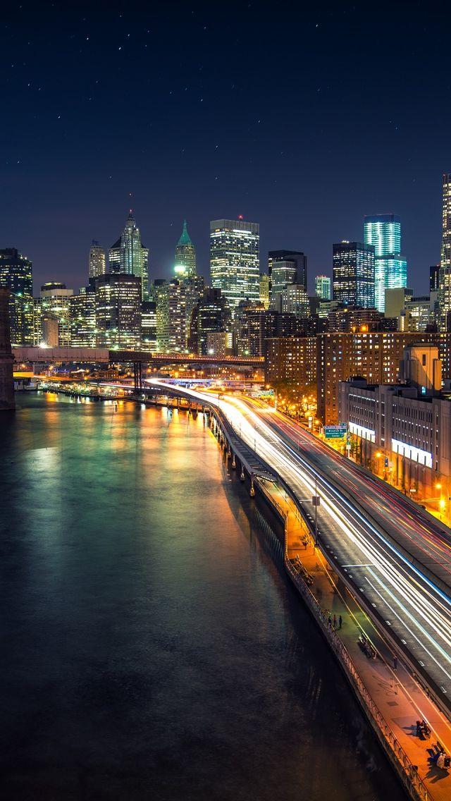 Manhattan Nights iPhone 5s Wallpaper Dream city