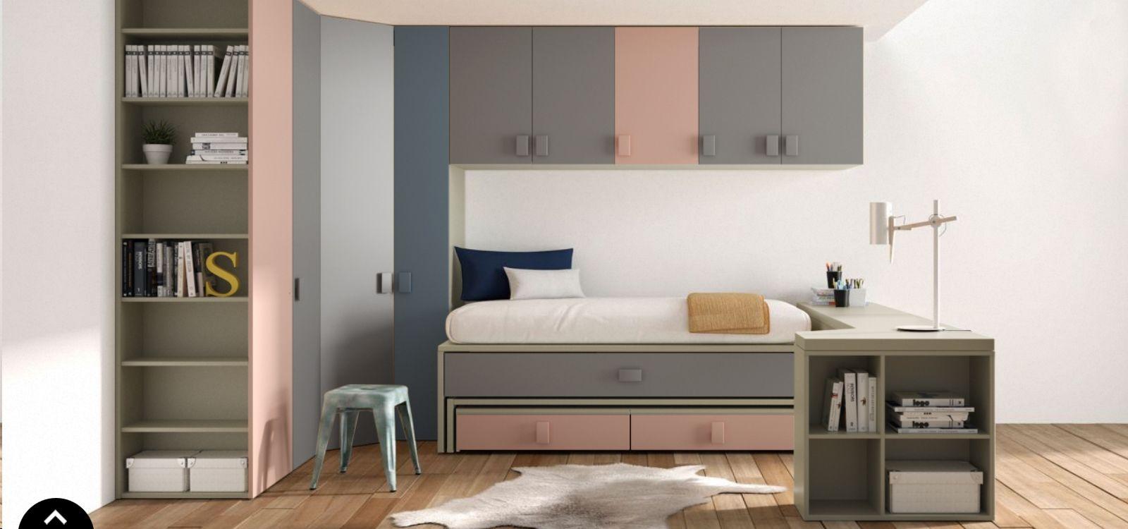 Chambre PERSONNALISABLE Oslo nacar avec lit gigogne - LAGRAMA