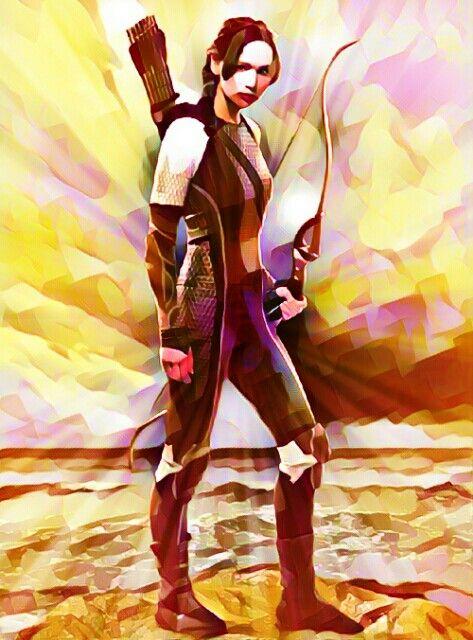 Katniss Everdeen fan-art I did.
