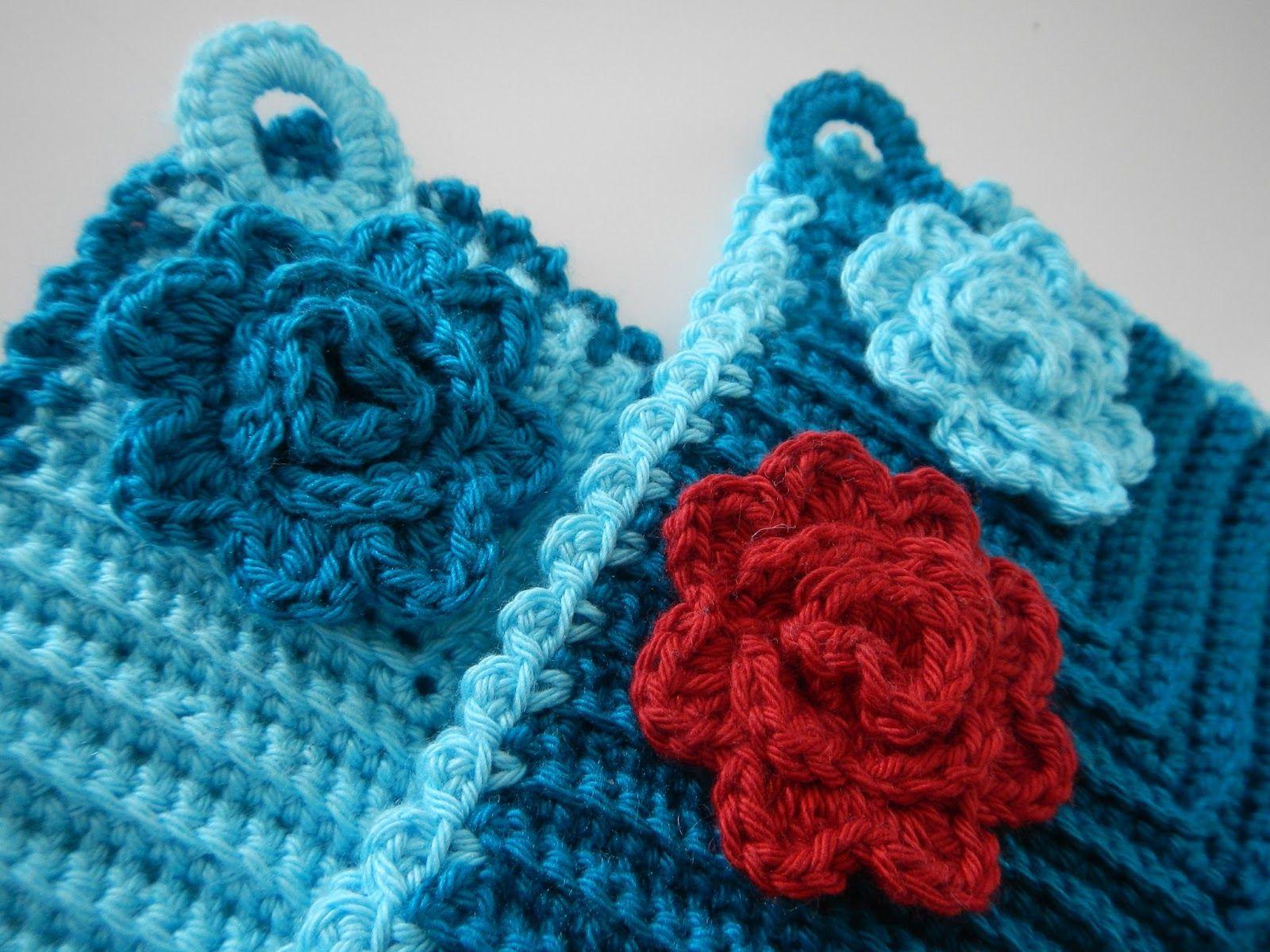 mitered dishcloth crochet pattern free   Apple Blossom Dreams: When ...