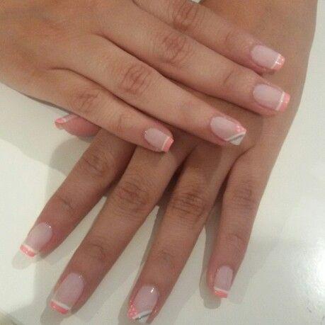 Uñas decoradas con francés rosa y blanco | Manicura y Decoración ...
