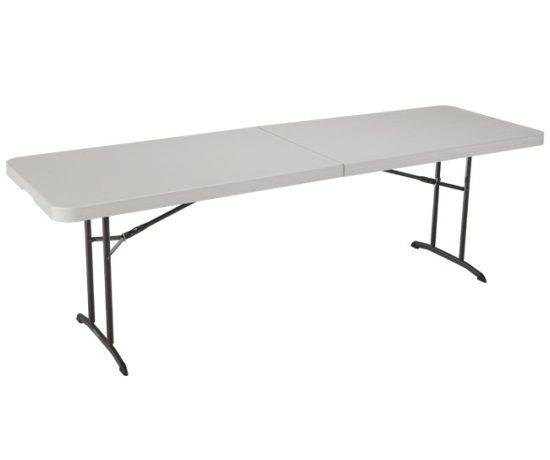 Lifetime Products 80175 8 Ft Almond Fold In Half Folding Table Fold In Half Table Folding Table Home