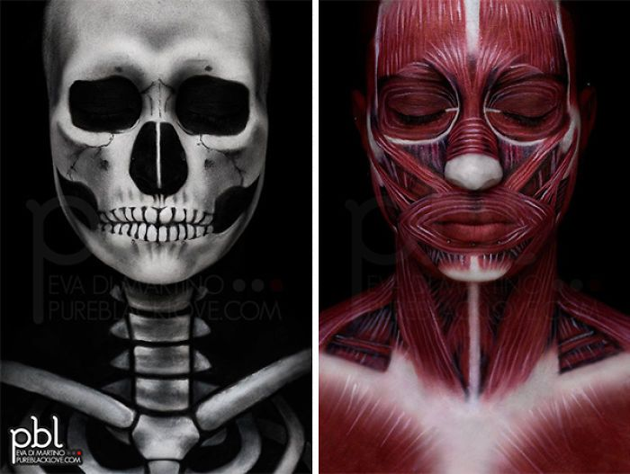 Human Anatomy Body Paint