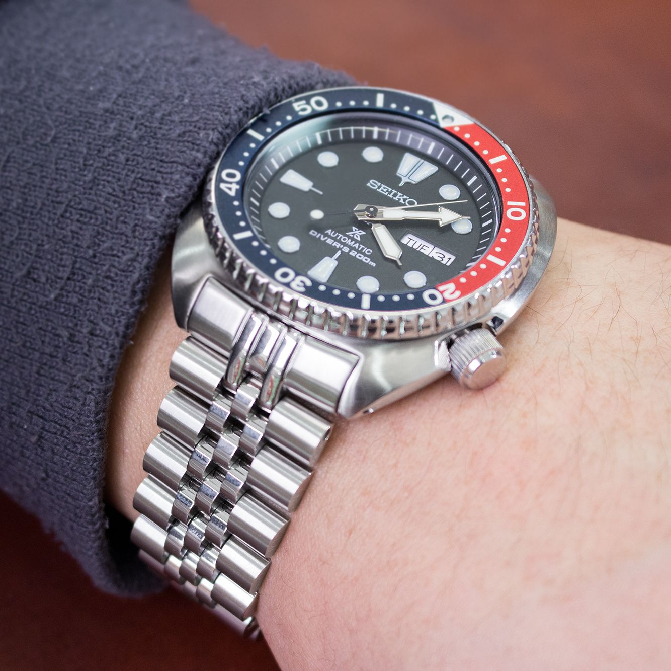 Miltat super jubilee watch bracelet for seikoturtle srp777 strapcode seiko new turtle for Jubilee watch