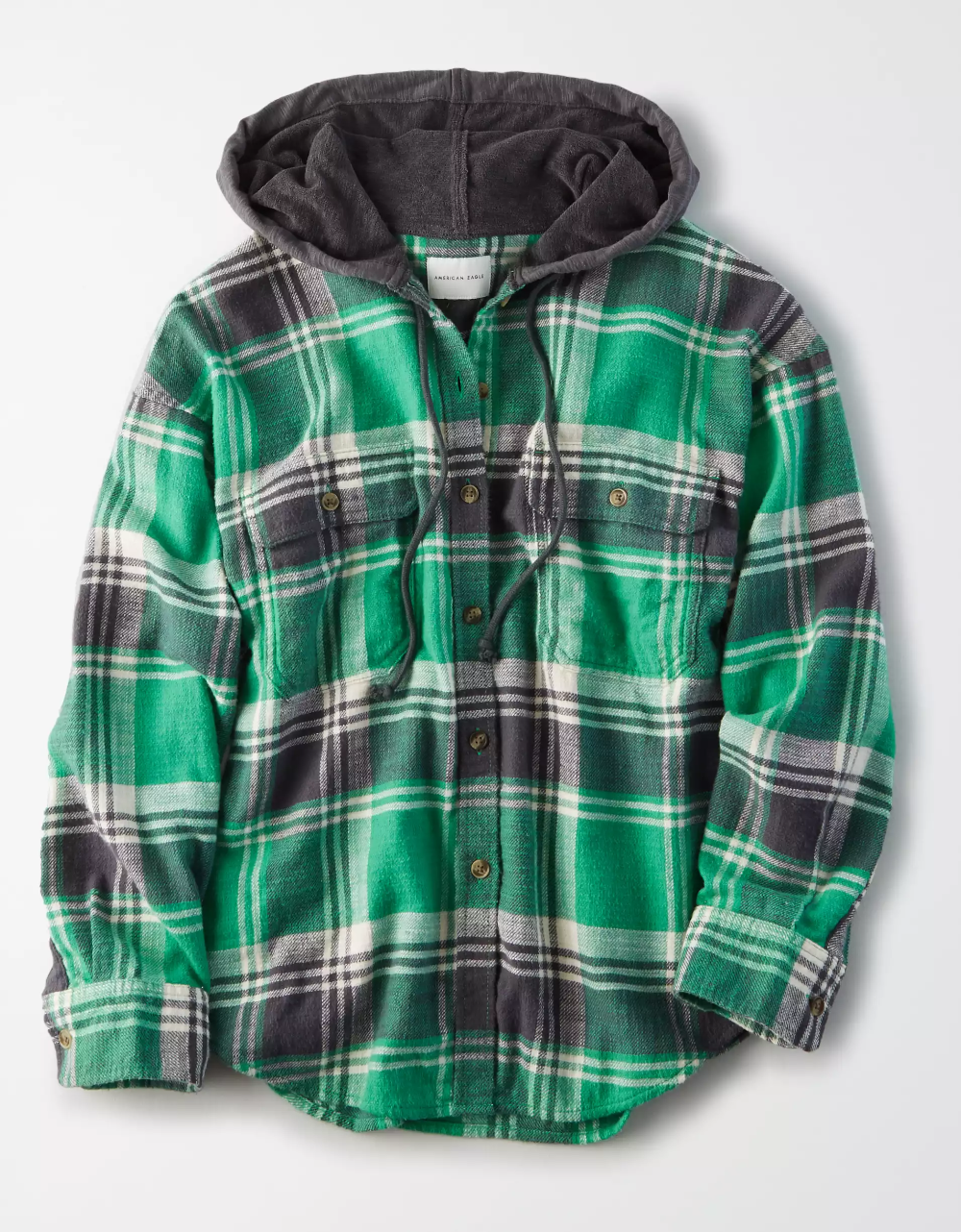 Ae Plaid Hooded Button Up Shirt Flannel Shirt Outfit Hooded Flannel Outfit Plaid Flannel Shirt [ 1282 x 1000 Pixel ]