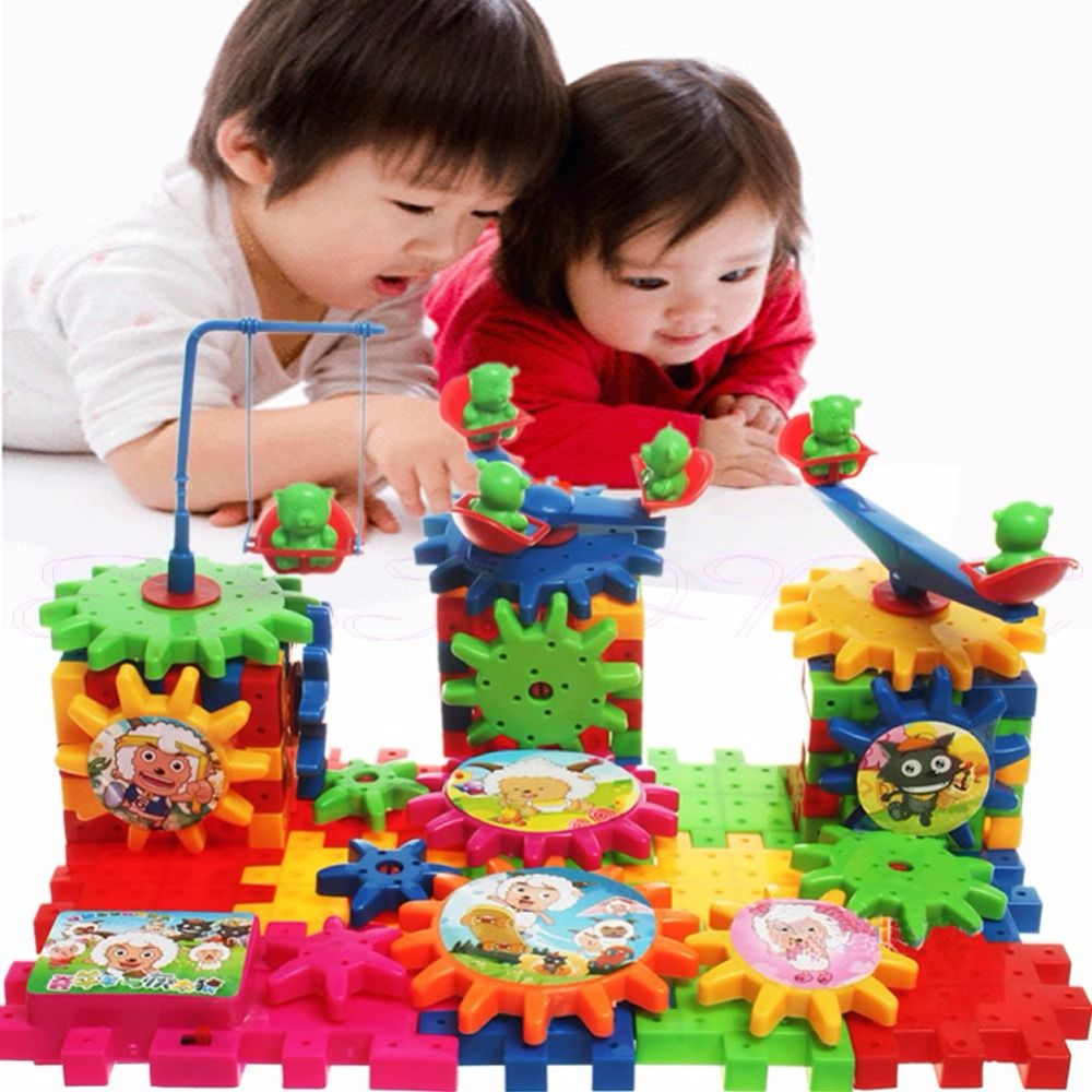 Kids Baby Electric Gears Combination Educational Changeable Blocks ...