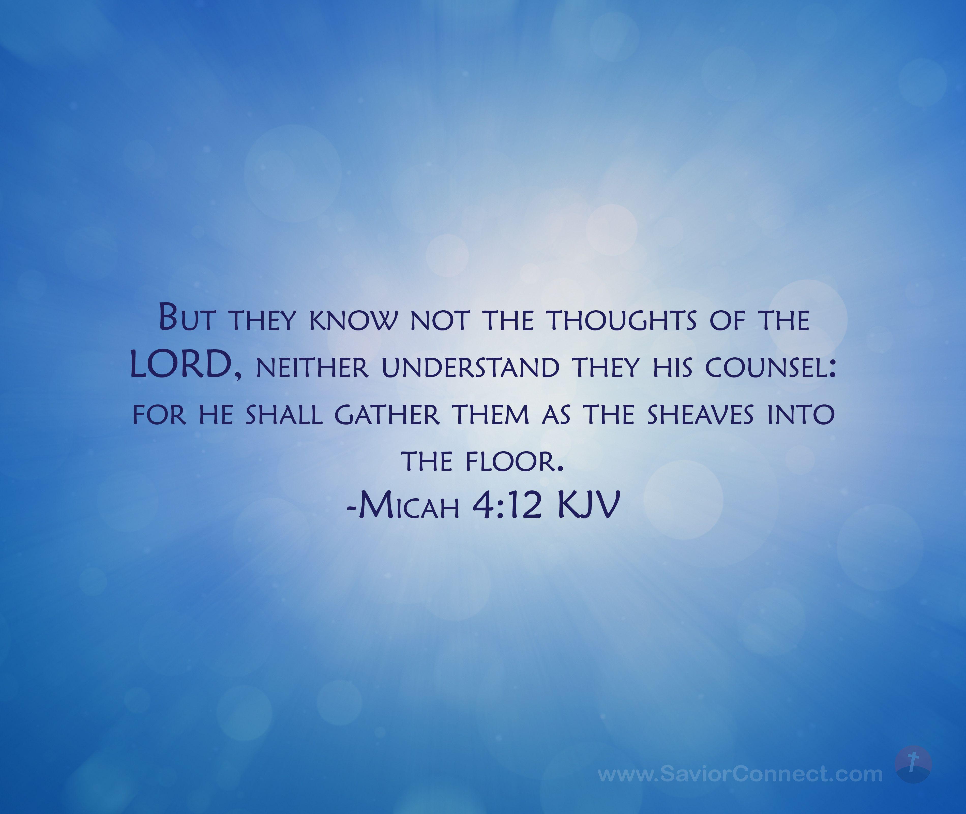 Micah 4 12 King James Version In