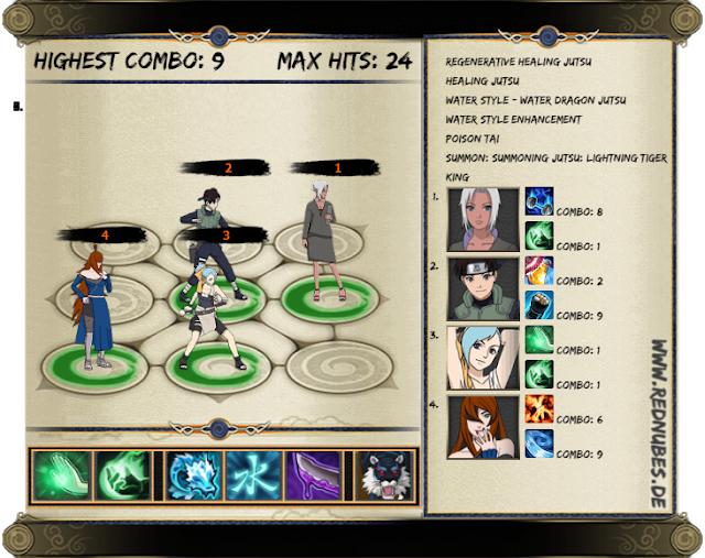 Water main Poison expert - Naruto online best lineup i can