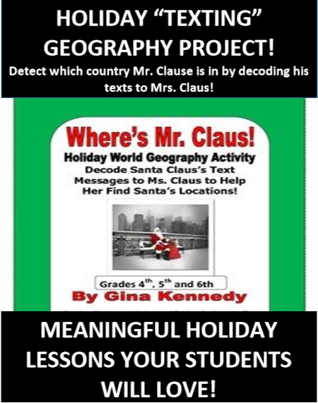 students use geographical clues to locate santa for ms claus this is a fun holiday world geography activity in which students read the text messages from