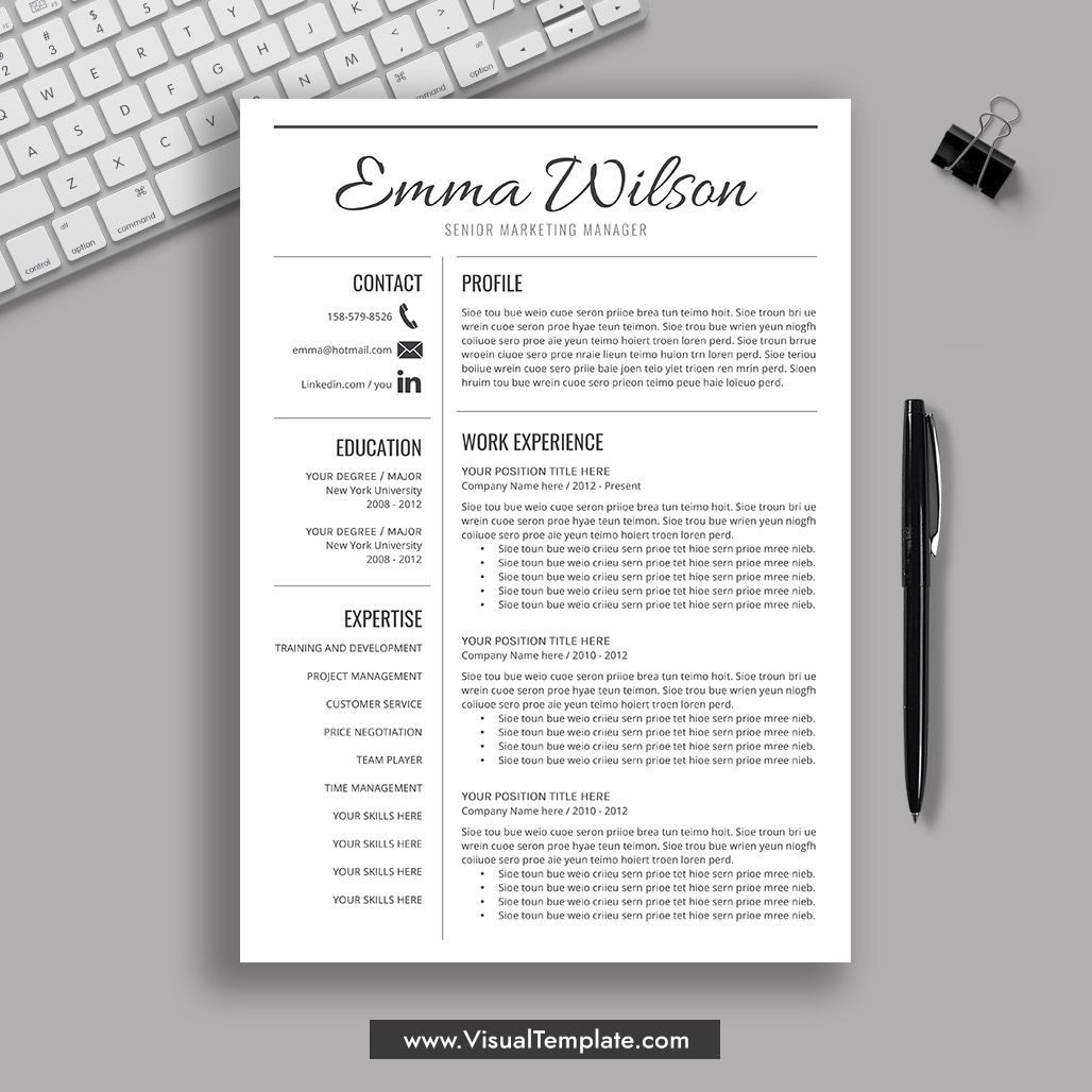 Free Resume Template Download 2020