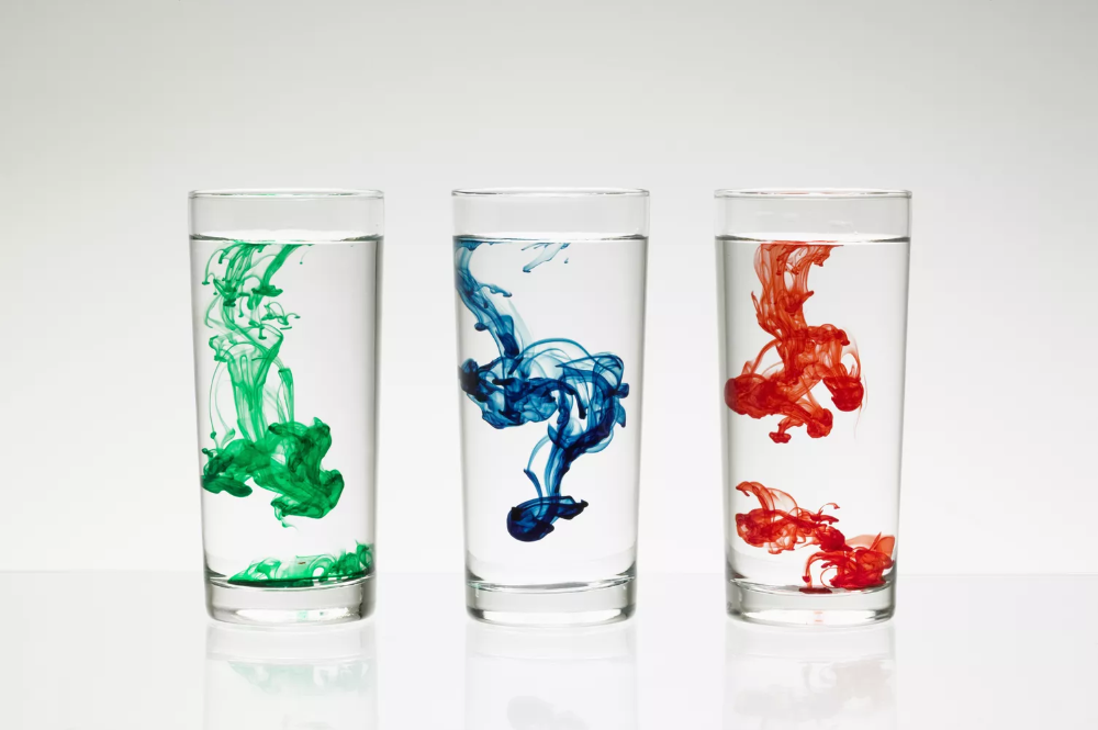 Water With Food Coloring In It