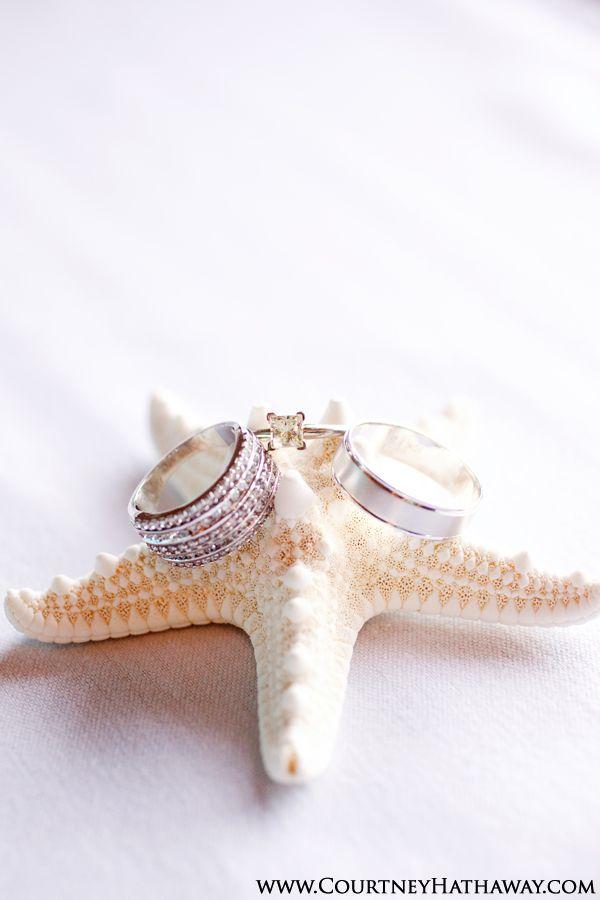 Outer Banks Weddings Ring Shot Ring on Starfish Starfish