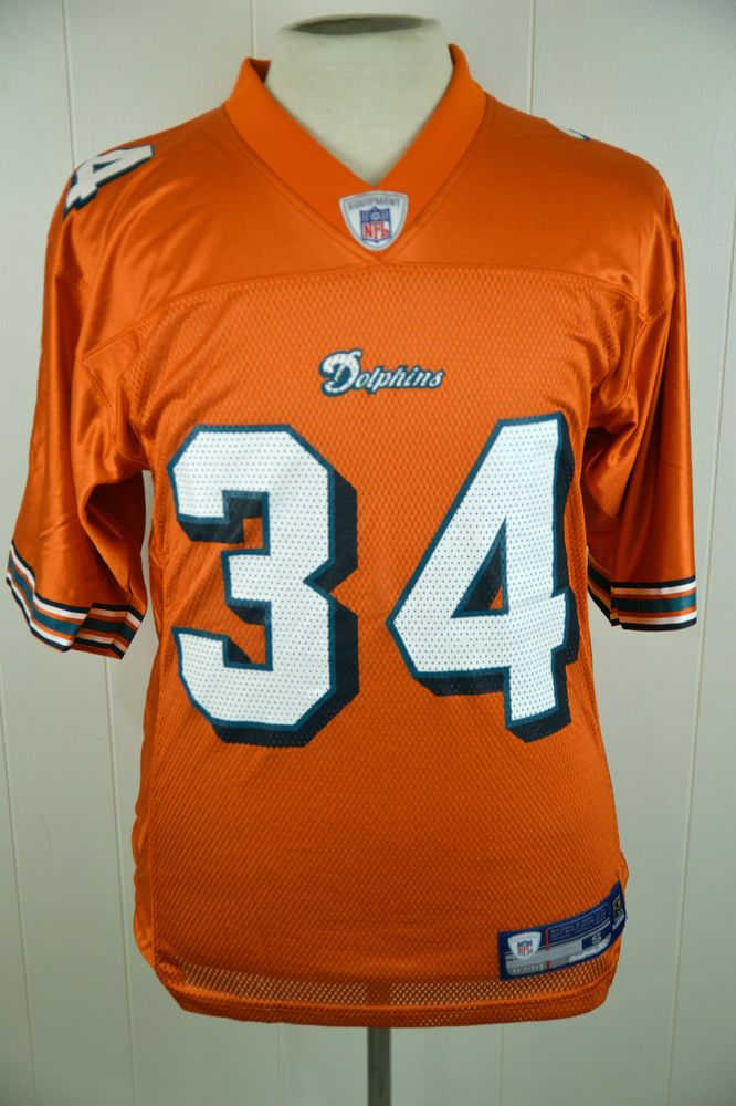 bd1bc90d Reebok Miami Dolphins Ricky Williams #34 NFL Football Jersey Adult ...