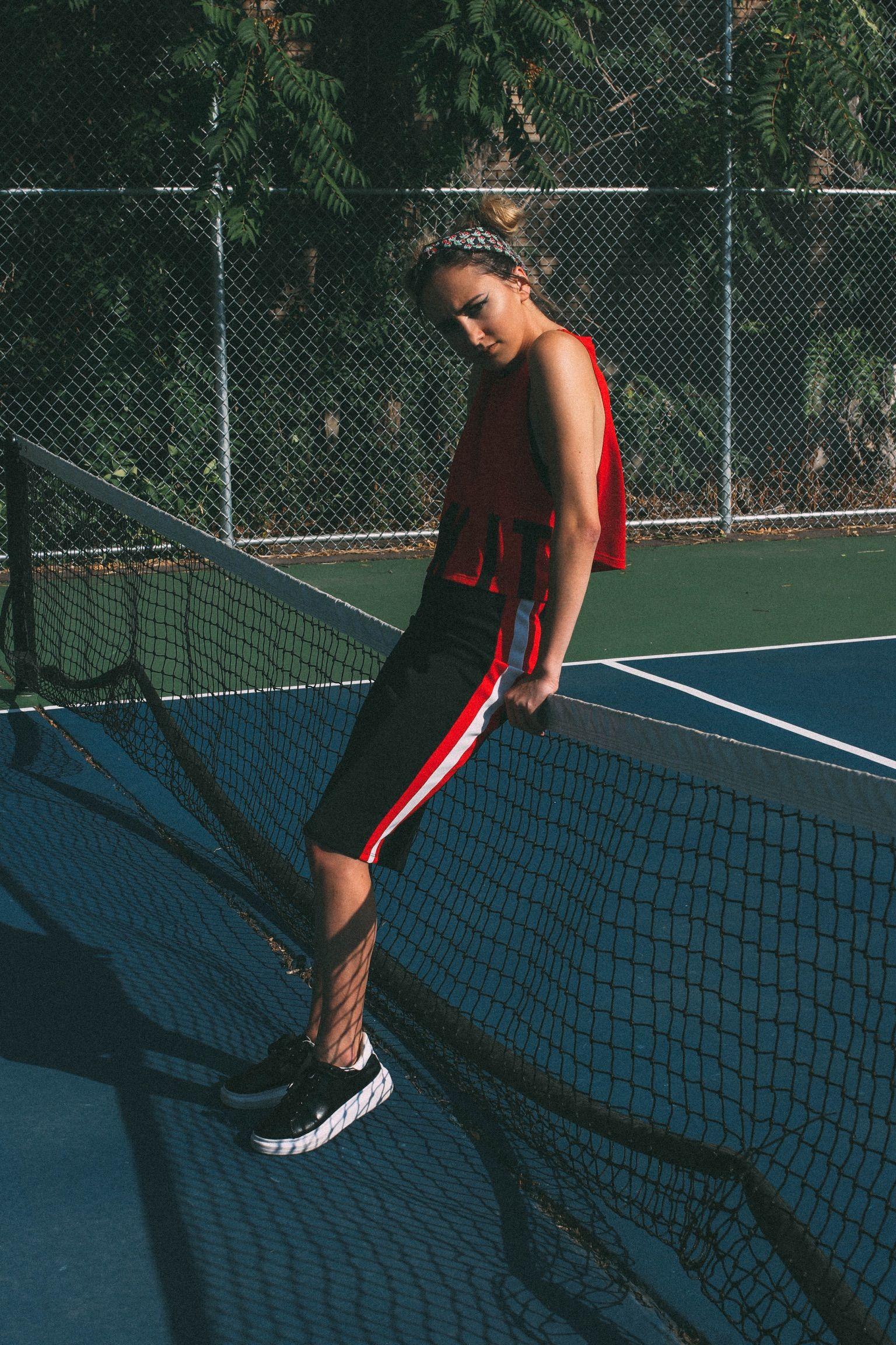 Maloriiee Euroshelb Tennis Court Photoshoot Idea Tennis Court Photoshoot Tennis Fashion Tennis Photography
