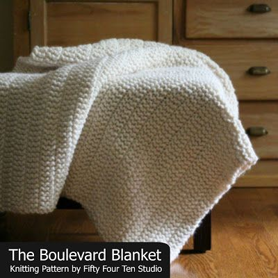The Boulevard Blanket Free Chunky Knitting Pattern Updated