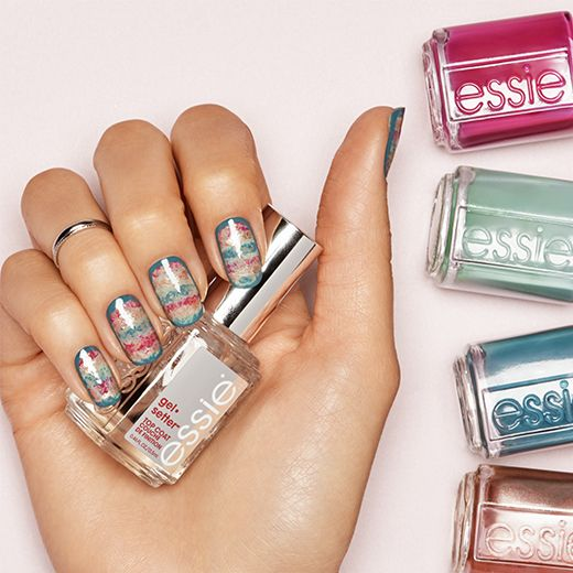 Texture Blur Nail Art By Essie Nails Pinterest