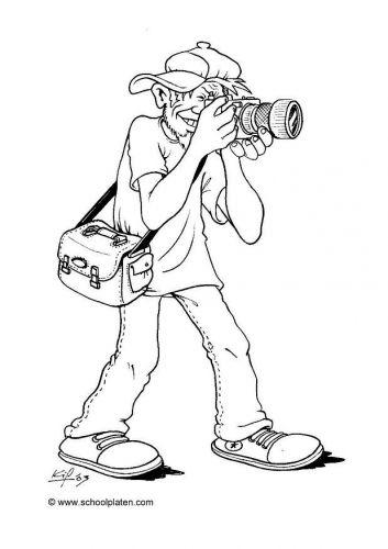 De Fotograaf Thema Fotografie Kleurplaten Fotograaf