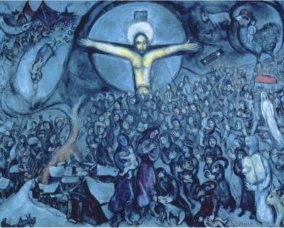 Chagall's painting, Jewish #Jesus #jewish #arts #artist #artworks #marc-Chagall #marcchagall #chagall