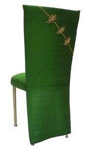 Dupioni Silk Emerald Green Chinese Sleeve Wildflower Linens