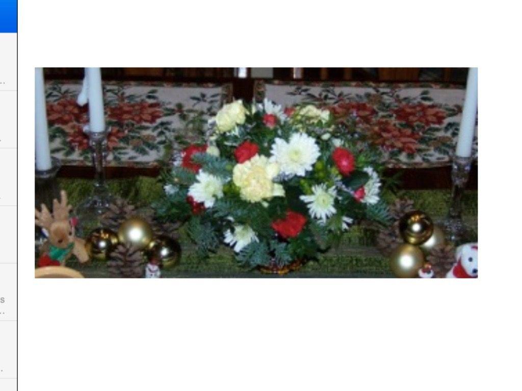 Christmas Centerpiece Arrangement Penfield, NY