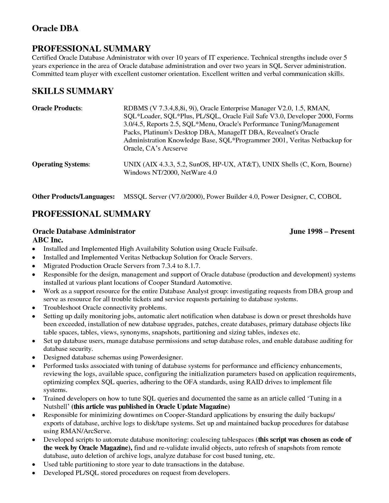Resume Examples Over 10 Years Experience Business Analyst Resume Resume Examples Verbal Communication Skills