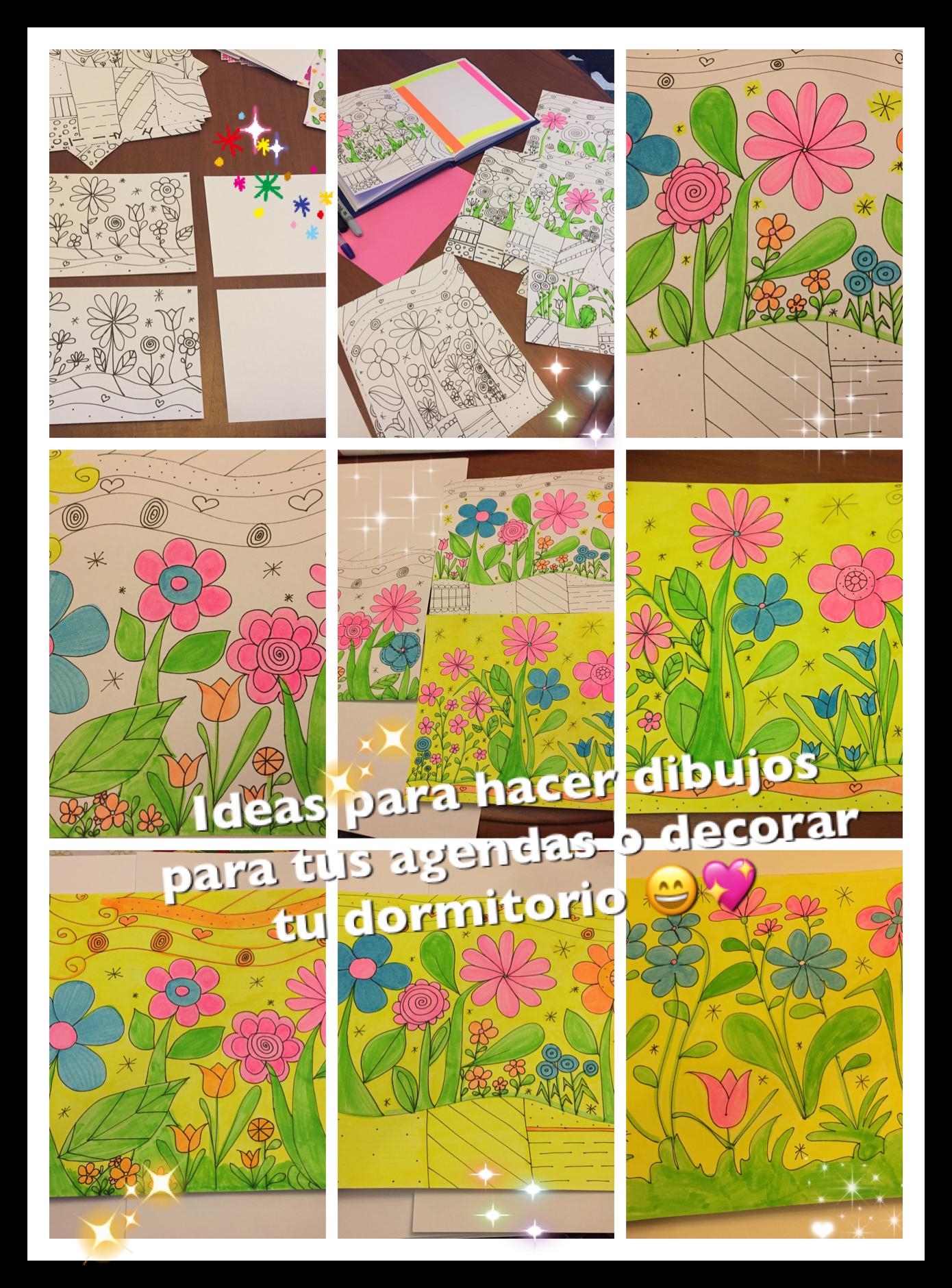 Dibujos para enmarcar y decorar paredes de dormitorio de las peques ...