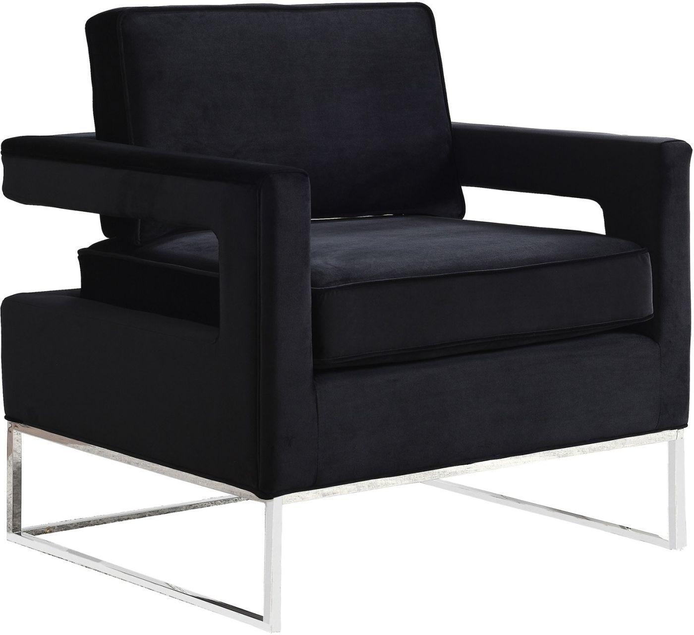 Best Buy Meridian 510Black Noah Black Velvet Accent Chair 400 x 300