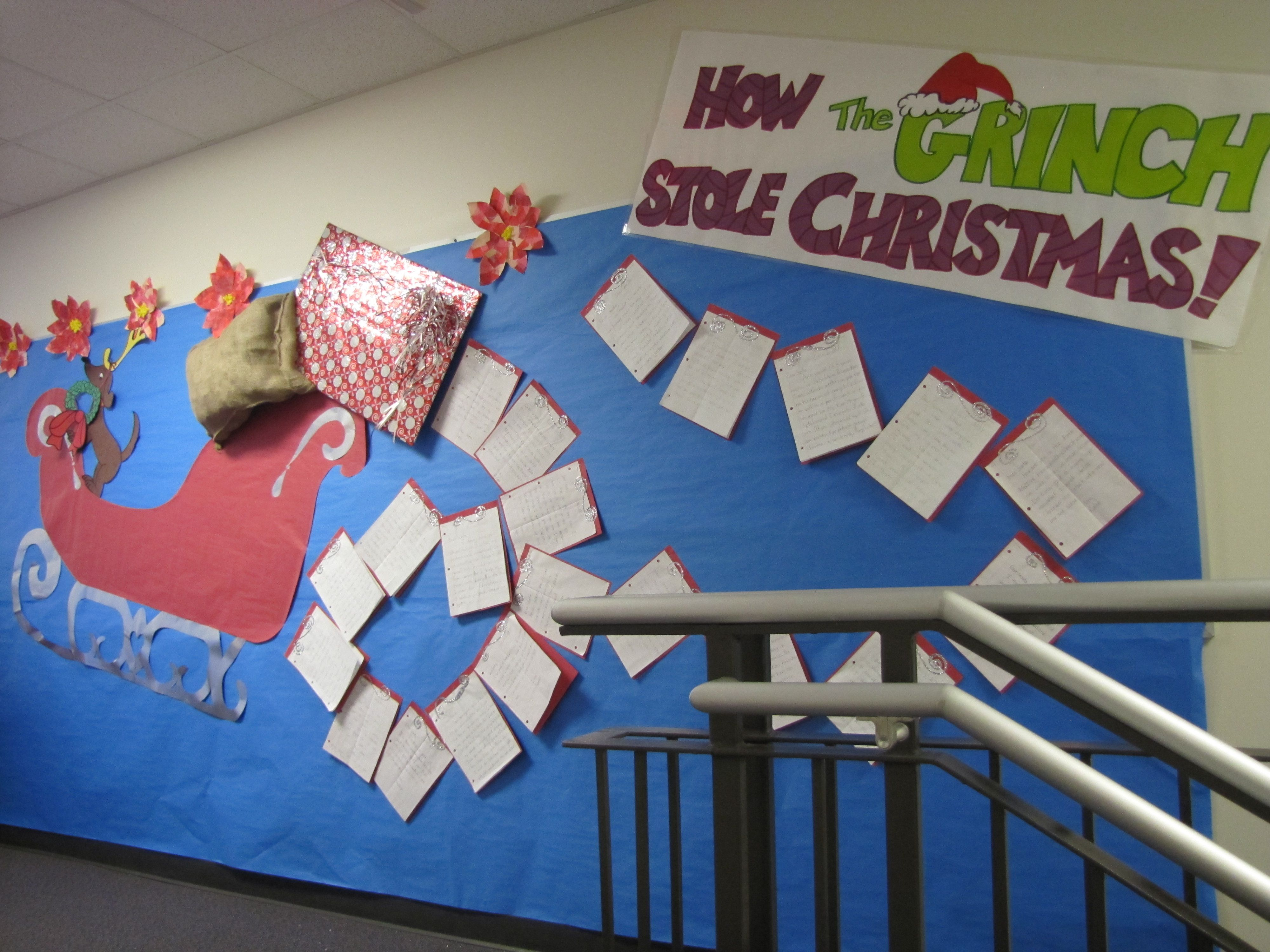Bulletin Board Students Wrote Letters To Santa
