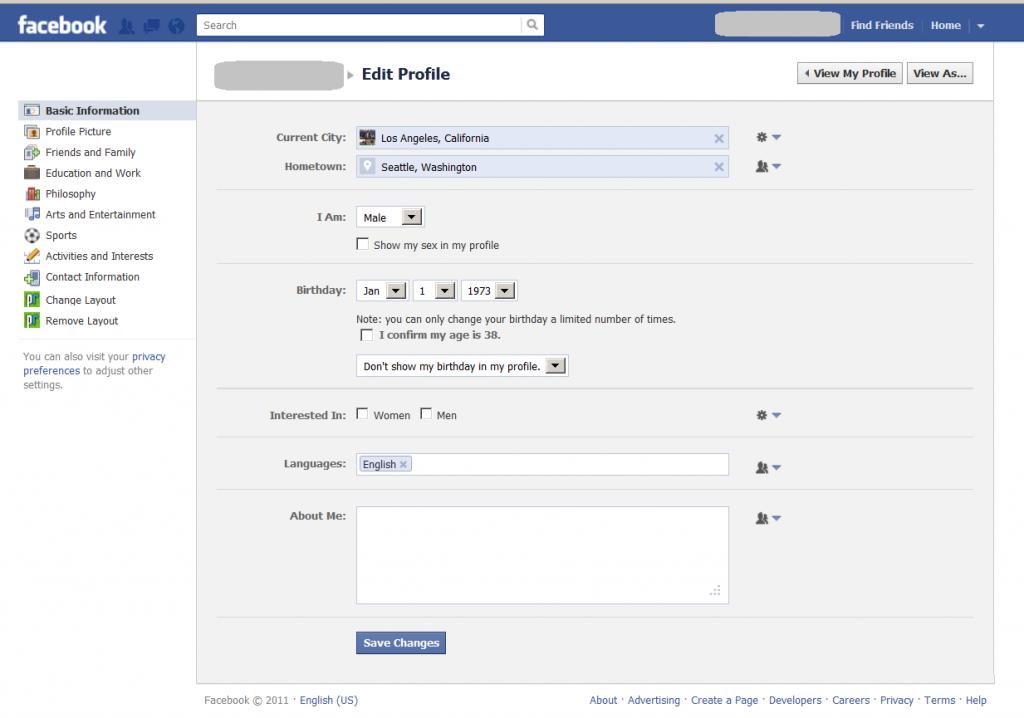facebook edit profile - Google Search   Edit profile - design ...