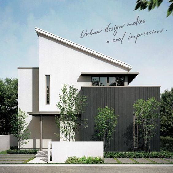 新築住宅の外観アイディア10選 箱型なナウトレンドデザイン: Pin Oleh Boyd Chaowalin Di Japanese House