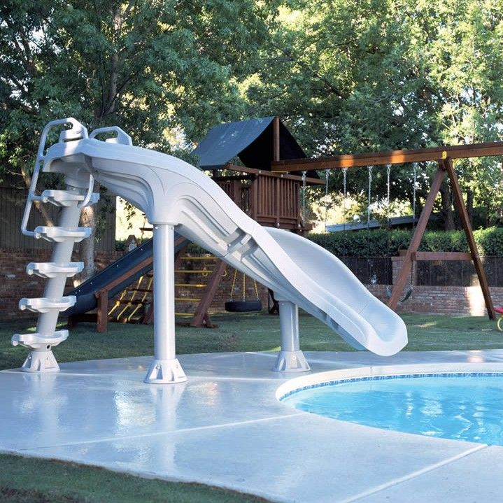 Inground Pools With Waterslides x-stream 6.5-foot swimming pool water slide | swimming, swimming