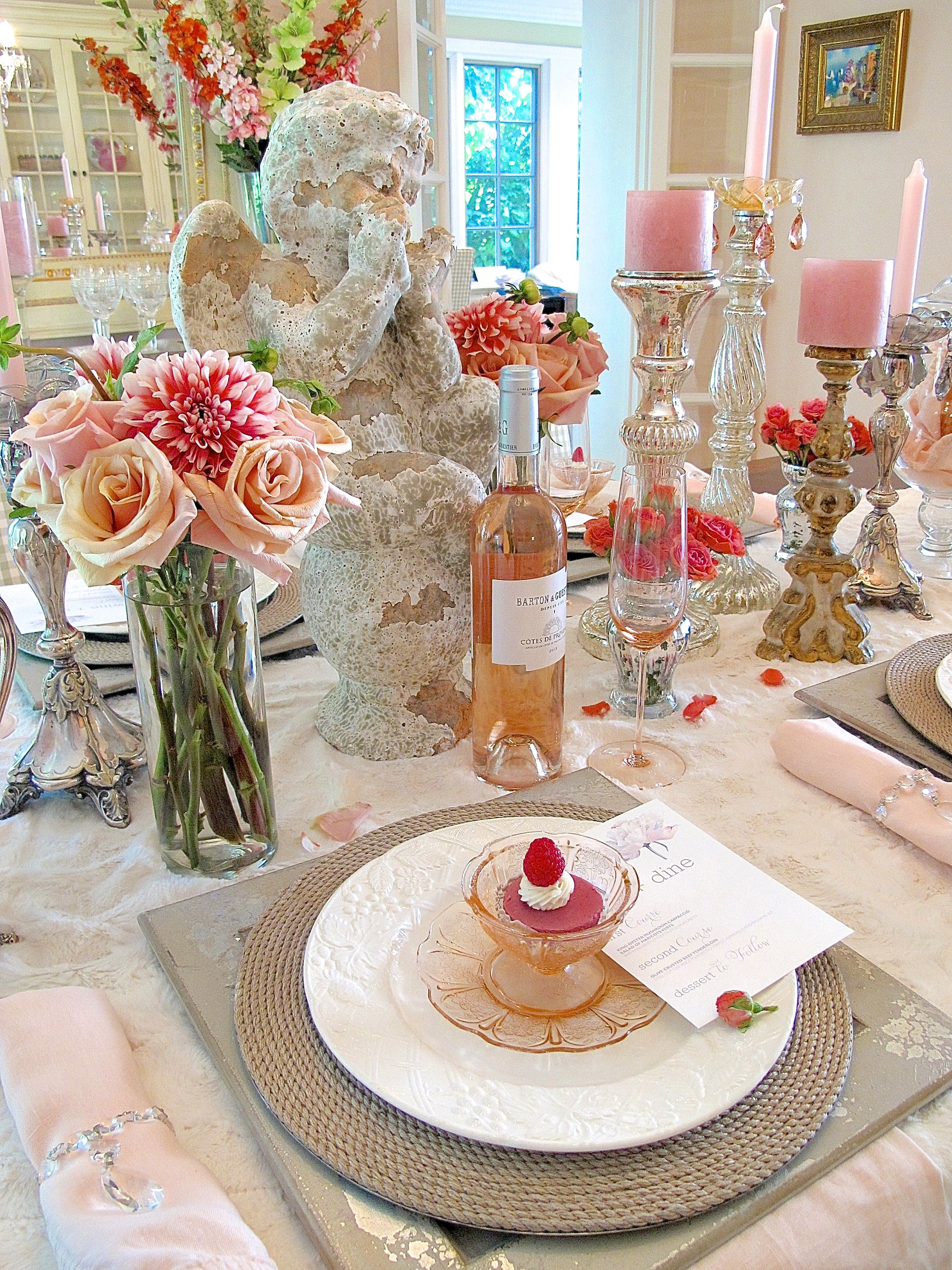Shabby Chic Tablescape Setting A Table With Chippy Pieces And Patina Designthusiasm