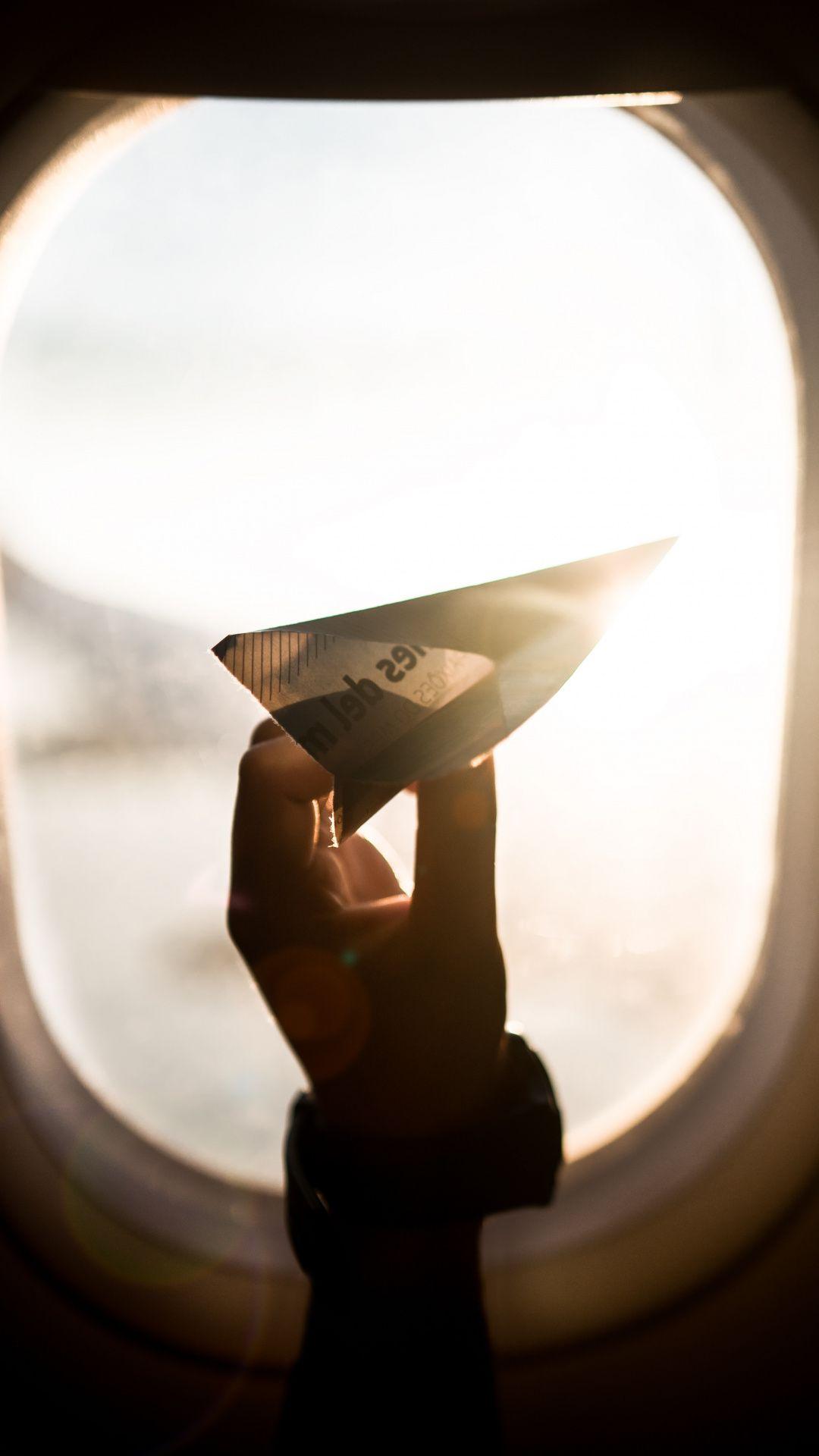 Wallpapers passenger, flight, hand, airline, paper plane