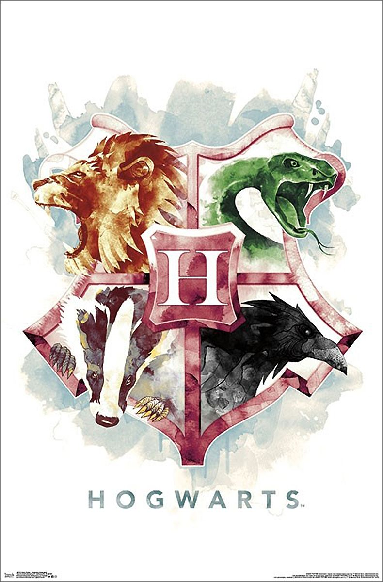 Harry Potter Poster Hogwarts Illustrated #decembrefondecran