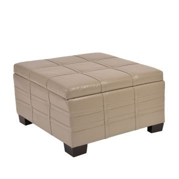 Strange Product Details Ash Gray Bonded Leather Storage Ottoman Pabps2019 Chair Design Images Pabps2019Com