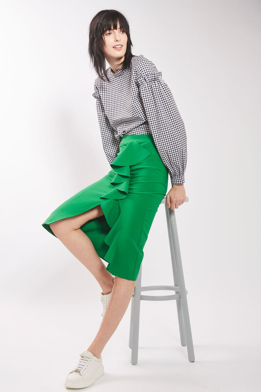 03c0cc0b08 Ruffle Crepe Midi Skirt | Obsession du Jour: Brights | Skirts ...
