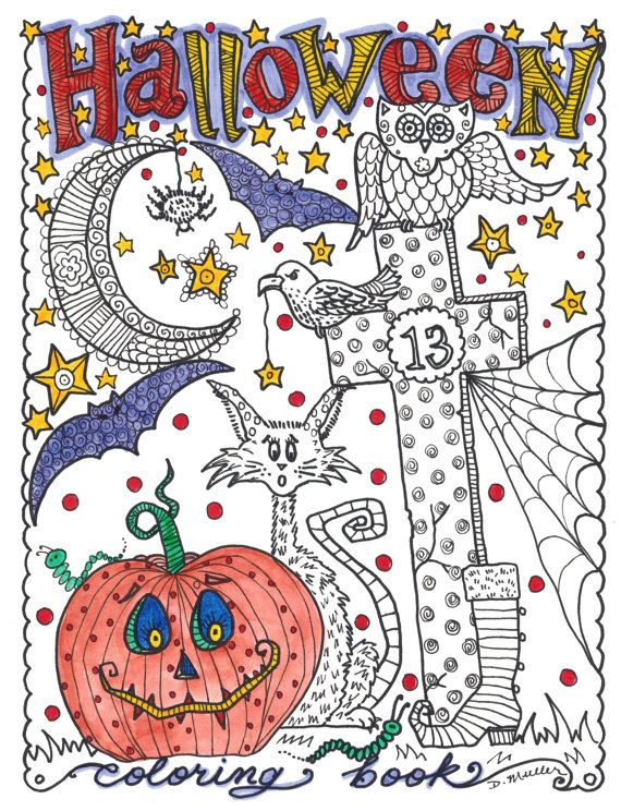 Best Halloween and Fall Coloring Books for Adults   - best of nice halloween coloring pages