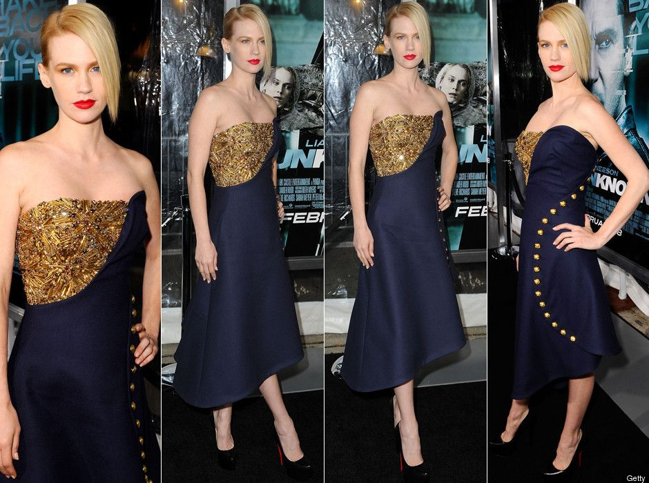 January Jones Wows In McQueen At 'Unknown' Premiere (PHOTOS, POLL)