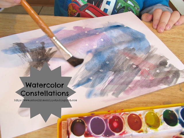 Photo of Watercolor Constellations Space Art Project