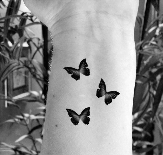 Photo of Temporary tattoo butterfly tattoo set of 6 fake tattoo butterfly tattoos small tattoo tiny tattoos