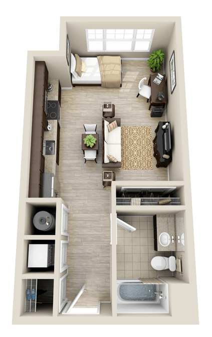 Floor Plans Studio Small Apartment