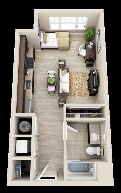Floor Plans Studio Small Apartment