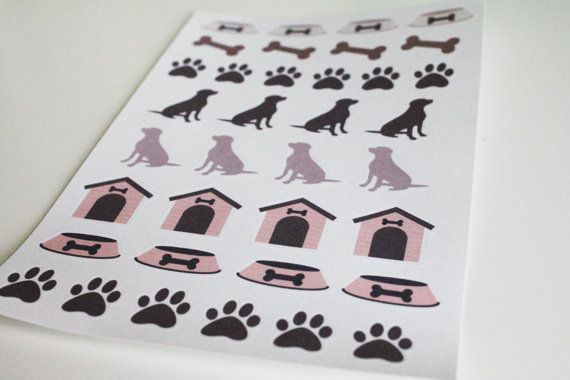 36 Dog Stickers Life Planner Stickers Scrapbook by AlexStudio
