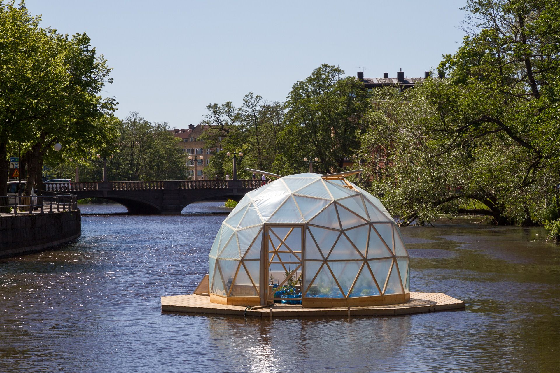 Build A Floating Platform, Put A Dome On It And