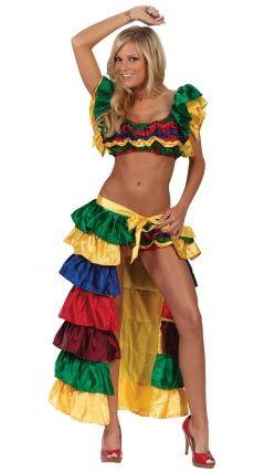 Costume de Danseuse Cubaine Déguisement en C