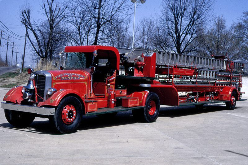 tn memphis fd 1936 peter pirsch tractor drawn 100 foot ladder