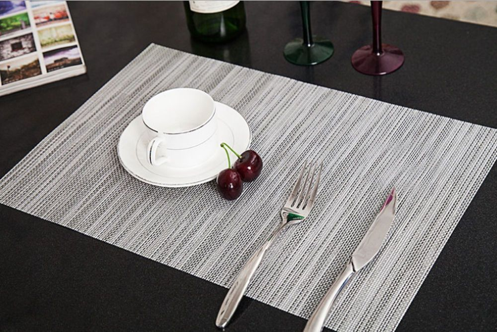 Sales PVC Quick-drying Placemats Insulation Mats Coasters Kitchen//Dining Table